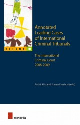 Annotated Leading Cases of International Criminal Tribunals - volume 40