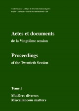 Actes et documents de la Vingtième session / Proceedings of the Twentieth Session