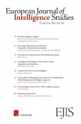 European Journal of Intelligence Studies. Capita Selecta