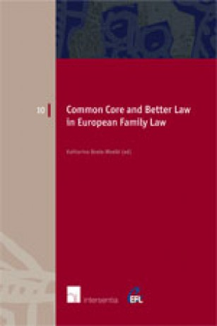 Common Core and Better Law in European Family Law