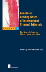 Annotated Leading Cases of International Criminal Tribunals - volume 09