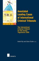 Annotated Leading Cases of International Criminal Tribunals - volume 29