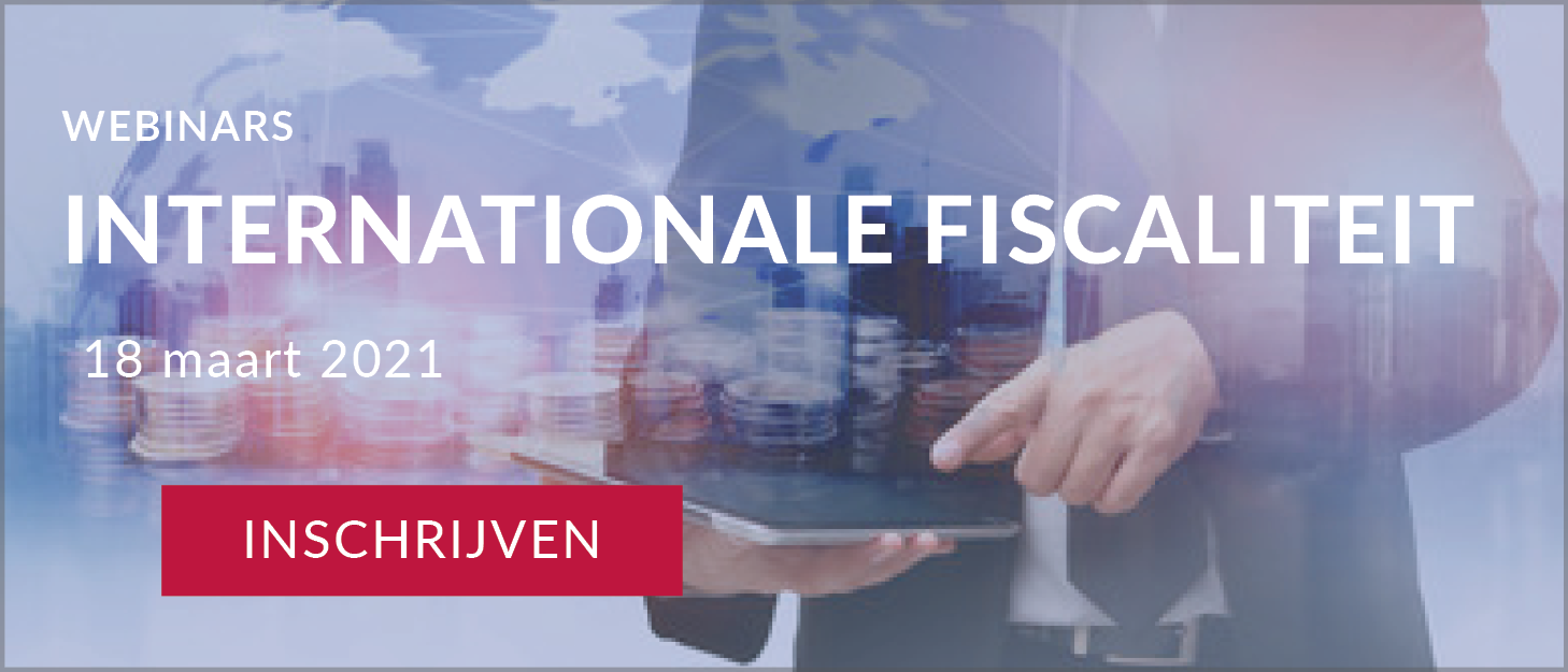 Webinars Internationale fiscaliteit